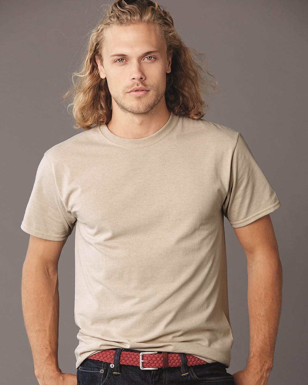 Jerzees 5.6 oz 29M Military Green 50//50 Heavyweight Blend T-Shirt XL