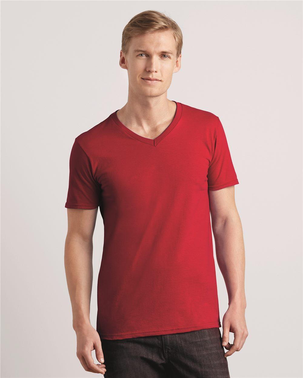 0b2b43ad6e G64V Gildan 4.5 oz SoftStyle V Neck T Shirt > T-Shirts