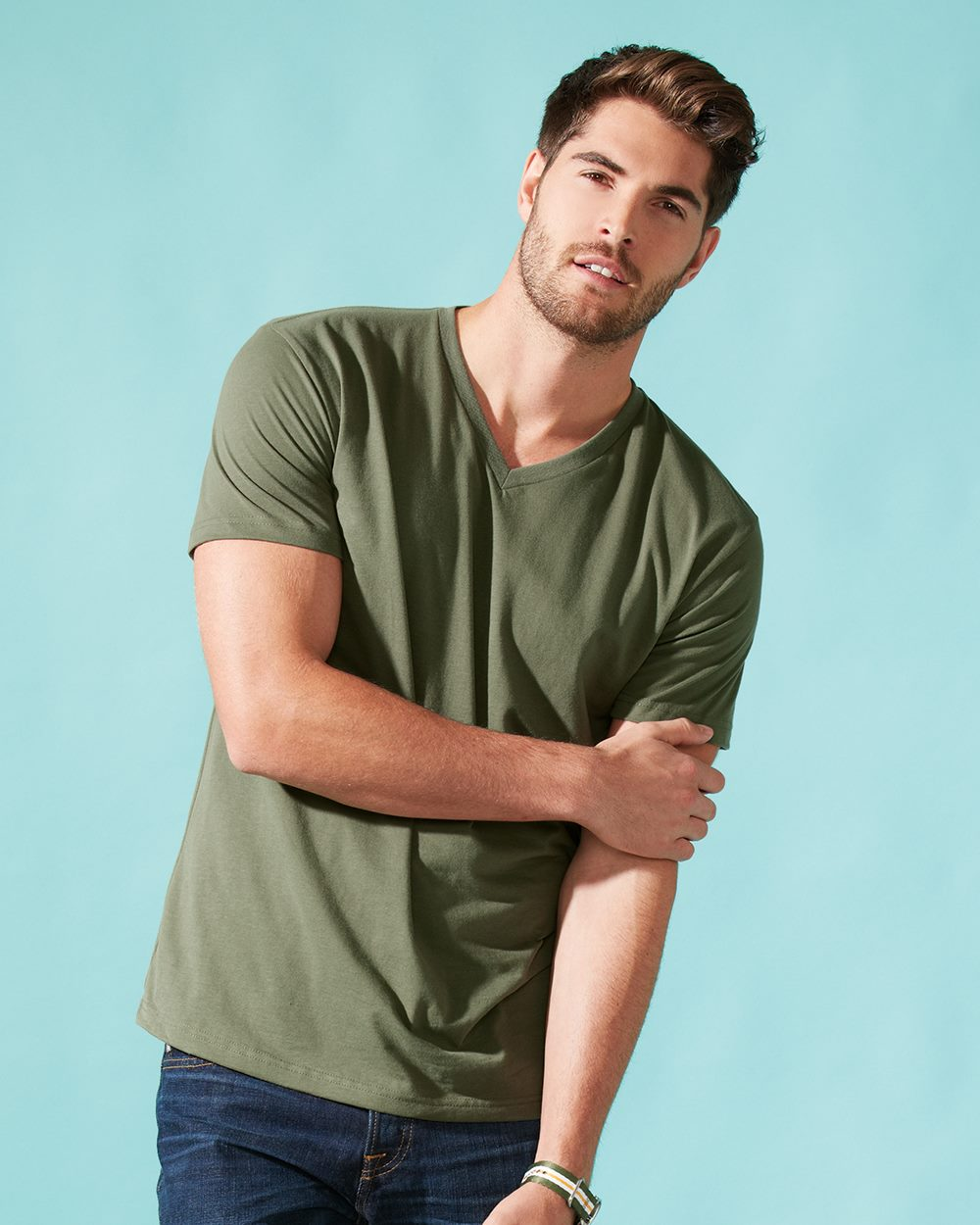 61f81a5522c4 6440 Next Level Men's Premium Fitted Sueded V-Neck Tee > T-Shirts