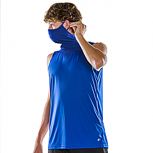 Badger Sports 2B1 Youth Sleeveless Tee with Built in Mask