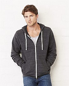 Bella+Canvas Unisex 8.2 oz. Triblend Sponge Fleece Full Zip Hoodie