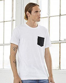 Bella + Canvas Men s Jersey Short Sleeve Pocket T Shirt