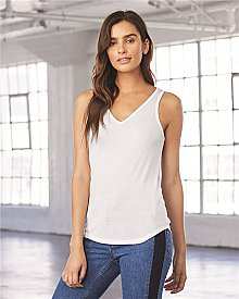 Bella Canvas Ladies Flowy V Neck Tank
