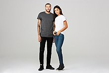 3004C Bella + Canvas Fast Fashion Unisex Jersey Rolled Cuff T-Shirt