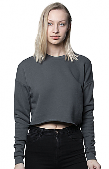 Royal Apparel Women's Fashion Fleece Crop Crewneck
