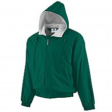 Augusta Sportswear Hooded Taffeta Jacket/fleece Lined