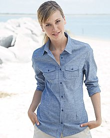 Burnside Chambray Women's Long Sleeve Chambray