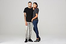 3414C Bella + Canvas Fast Fashion Unisex Triblend Raw Neck T-Shirt