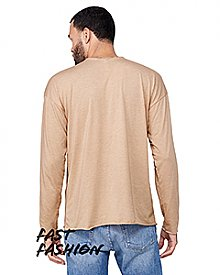 Bella + Canvas Fast Fashion Unisex Triblend Raw Neck Long-Sleeve T-Shirt