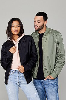 Bella + Canvas Fast Fashion Unisex Lightweight Bomber Jacket