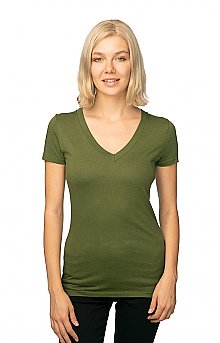 Royal Apparel Womens Viscose Hemp Organic V Neck