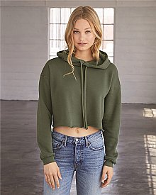 Bella + Canvas - Women's Cropped Fleece Hoodie
