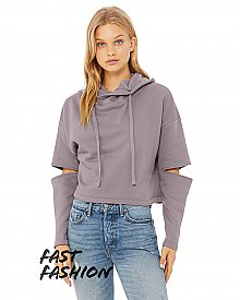 7504 Bella + Canvas Fast Fashion Ladies' Cut Out Fleece Hoodie
