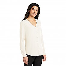 Port AuthorityᅠLadies Long Sleeve Button-Front Blouse