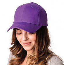 Big Accessories 6 Panel Structured Twill Cap