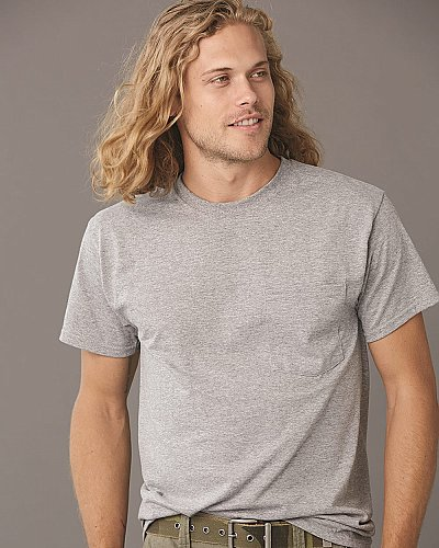Jerzees 5.6 oz 50 50 Tee with Pocket