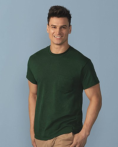 Gildan 5.6 oz. Ultra Blend 50 50 Pocket T Shirt