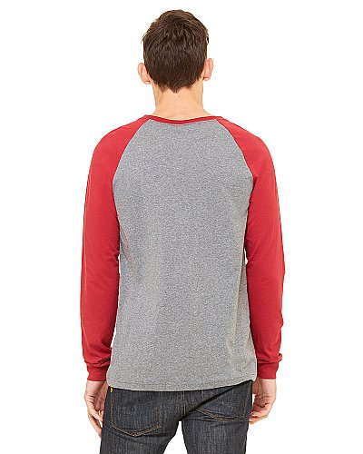 Bella + Canvas Men s Hawthorne Baseball T Shirt