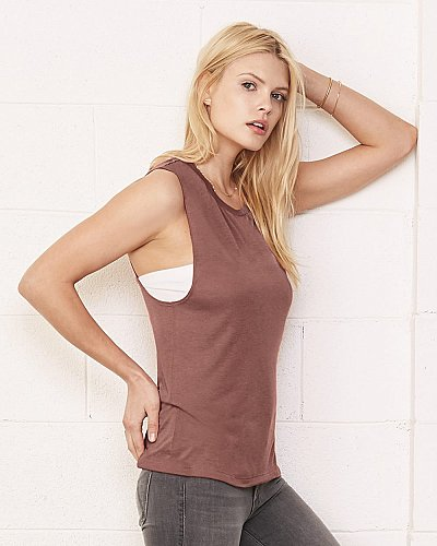 Bella+Canvas Ladies Flowy Scoop Muscle T Shirt