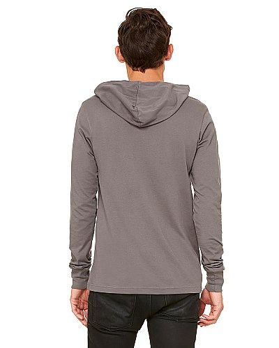 Bella + Canvas Unisex Driftwood Longsleeve Hooded T shirt