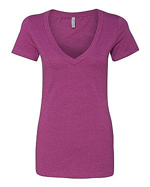 Next Level Ladies CVC Deep V neck
