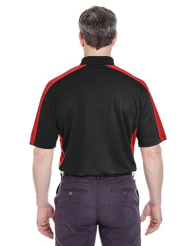 UltraClub Adult Cool & Dry Stain-Release Two-Tone Performance Polo