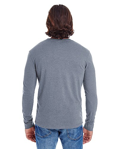 Econscious Men's Heather Sueded Long Sleeve Jersey
