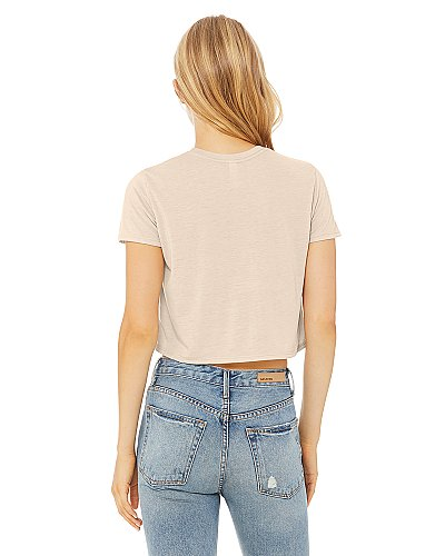 Bella + Canvas Women's Flowy Cropped Tee